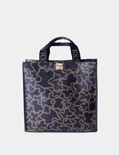 Bolso Micolet Negro Oso Print descuento Bicolor 75 Tous a7dqH0wWxd