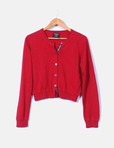 Polo Jeans Chaqueta roja corta de punto fino (descuento 91%) - Micolet 7334704da6d5