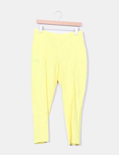 Pantalón amarillo de lino Asos