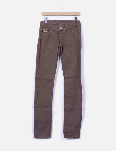 Jeans marrón Bershka