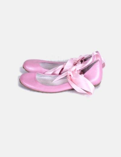 Bailarina rosa con lazos rosas Suiteblanco