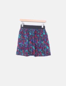 Falda estampado multicolor con elástico Oysho ddc64714adfb