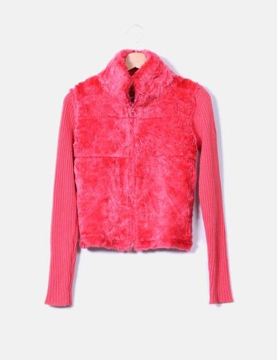 Jersey rosa con pelo Roxy