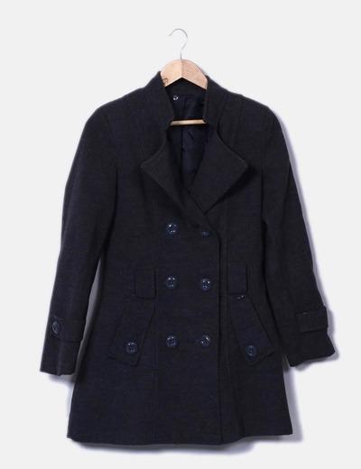 Abrigo gris doble botón NoName