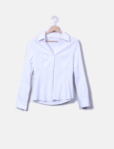 Camisa blanca abotonada Forget me not