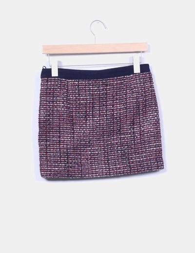 Mini falda jaspeada