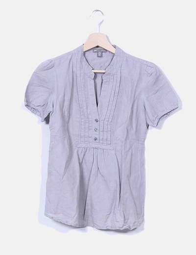 Blusa gris manga corta GAP
