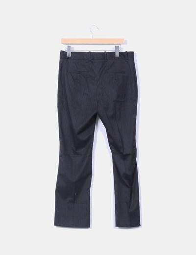 Pantalon negro raya diplomatica