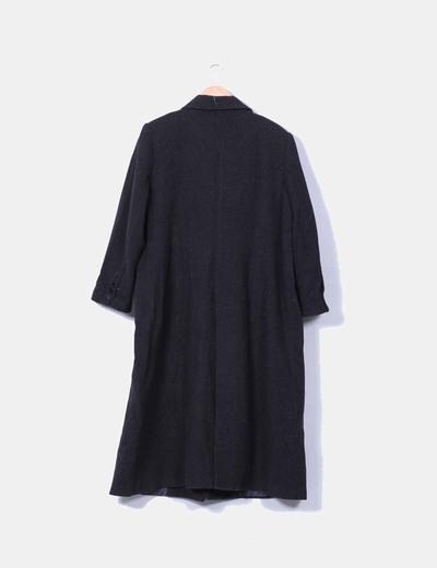 Abrigo de pano largo gris marengo