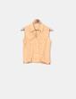 Blusa naranja de lino Massimo Dutti