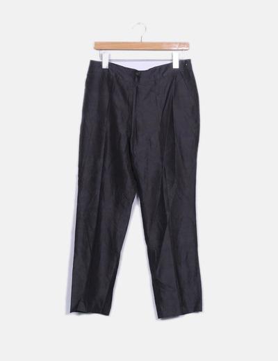 Pantalón seda gris marengo Síntesis