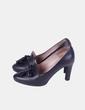 Chaussures noires fermées avec motif avant Unisa