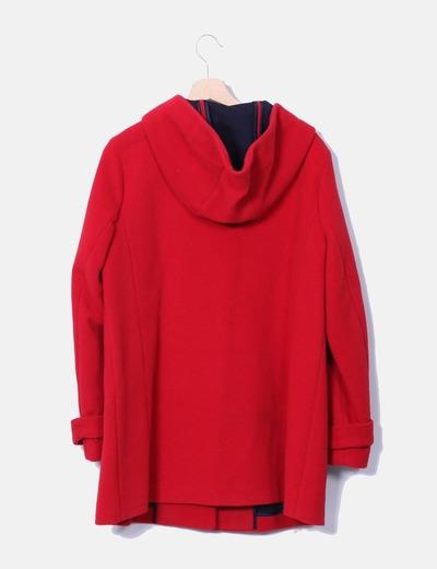 Abrigo largo rojo