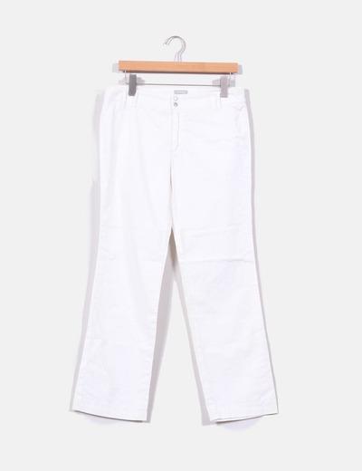 Pantalón recto blanco  Stefanel