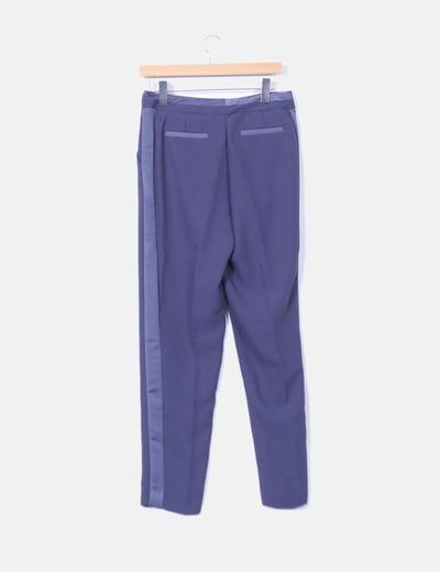 Pantalon azul recto