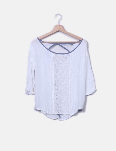 Blusa combinada con espalda cut out