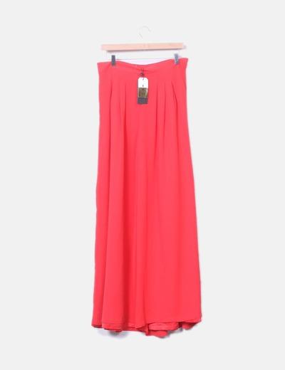 342b9d13f4672 Easy Wear Pantalón de gasa rojo pata de elefante (descuento 41%) - Micolet