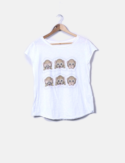 Camiseta print emoticonos