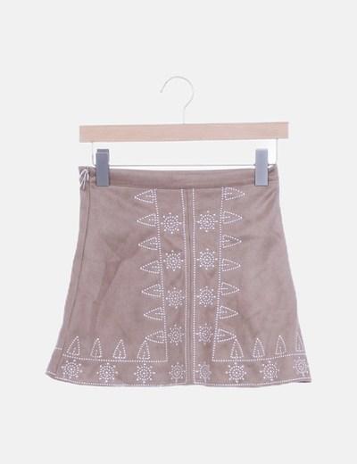 Mini falda antelina étnica
