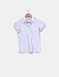 Camisa blanca de raya diplomática azul Stradivarius