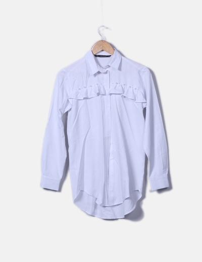 Camisa blanca con perlas