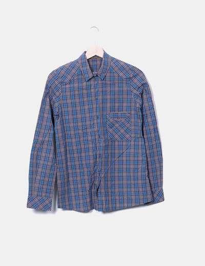 Camisa cuadros azules Uterqüe
