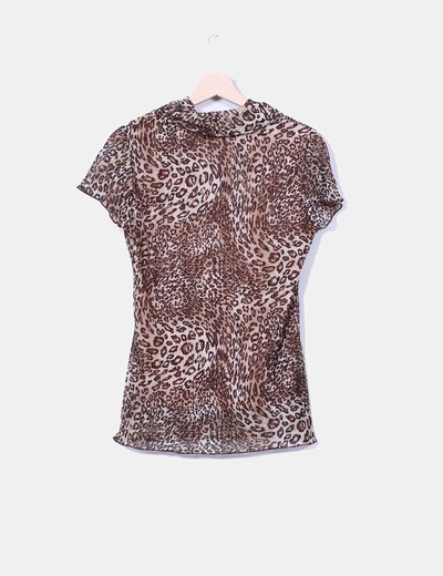 Blusa estampada animal print