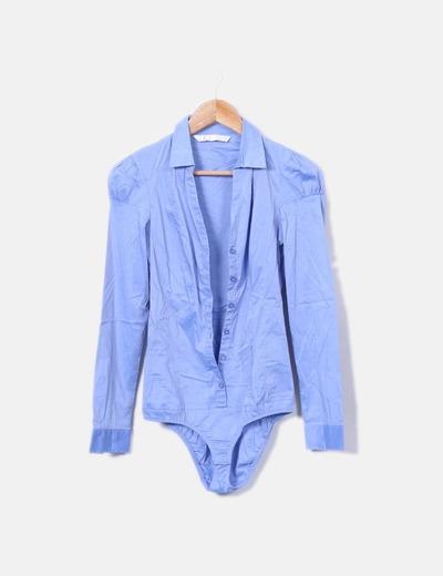 Camisa/body azul Stradivarius