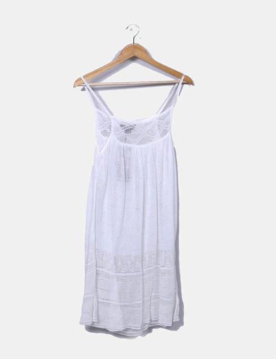 Vestido de punto blanco El Corte Inglés