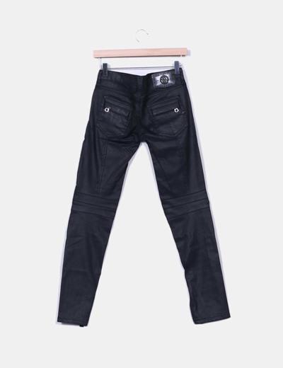 Pantalones encerados negros
