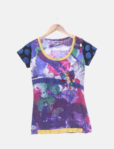 Camiseta multicolor de manga corta