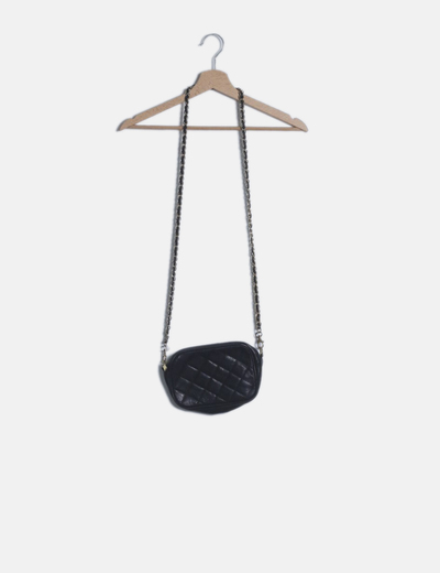 Bolso mini negro polipiel cadena