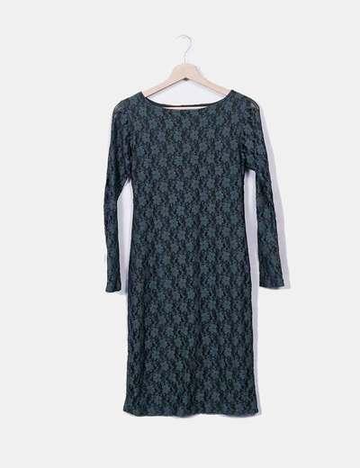 8b6150e45fdb4 Marbella Line Robe verte en dentelle (réduction 78%) - Micolet