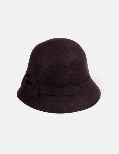 Chapeau marron de laine NoName