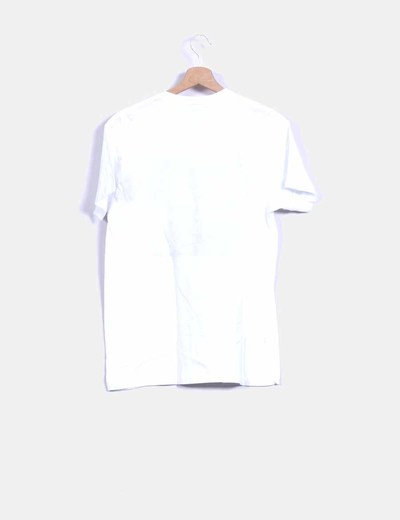 Camiseta blanca boyfriend print letras