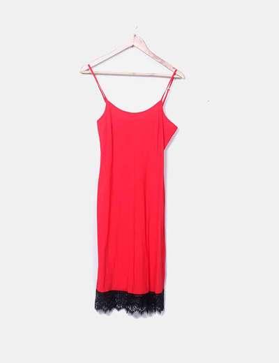 Vestido lencero rojo