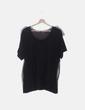 Camiseta negra combinada NoName
