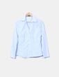 Camisa azul escote pico Atmosphere