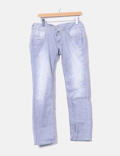 Gray straight denim jeans Pepe Jeans