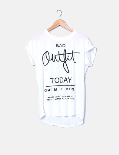 linda nueva temporada comprar auténtico Camiseta blanca con letras negras