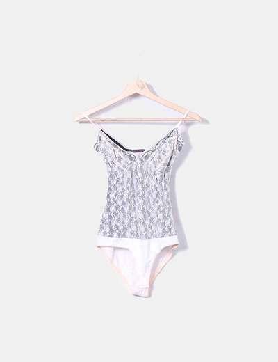 Body encaje nude Zara