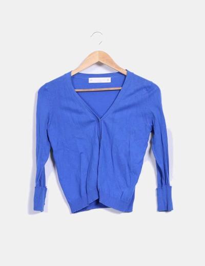 Cárdigan fino azul klein Zara