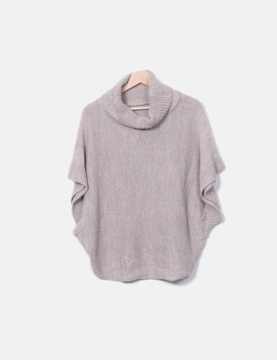 Pull col roulé taupe NoName
