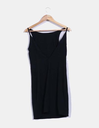 Vestido fluido recto negro
