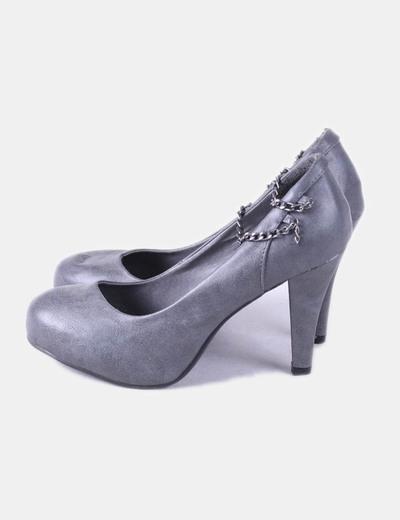 de gris tacón Xti detalle Zapato cadenas FwqgE17d