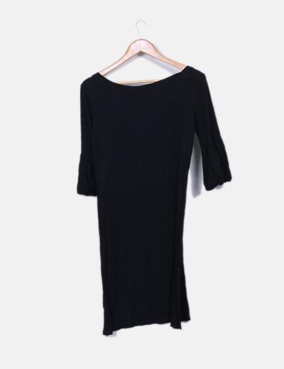 Vestido negro en frances