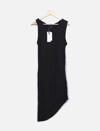 Vestido fluido negro sin mangas Suiteblanco