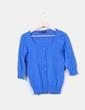 Chaqueta de punto azul Zara