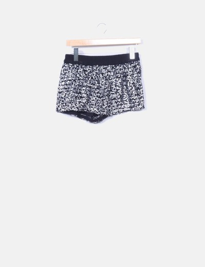 Short negro pailettes Zara