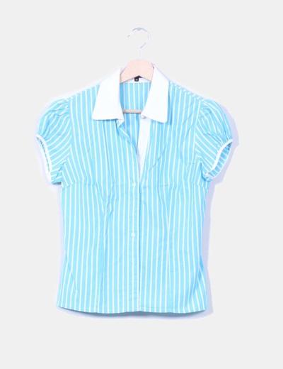 Camisa azul de rayas Elogy